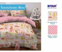Sprei star strawberry rose - grosir Sprei star murah - sprei star 2017