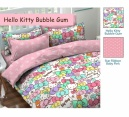 SPREI STAR MOTIF HELLO KITTY BUMBLE GUM - GROSIR SPREI STAR MURAH